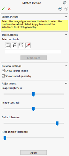 Sketch picture sliders